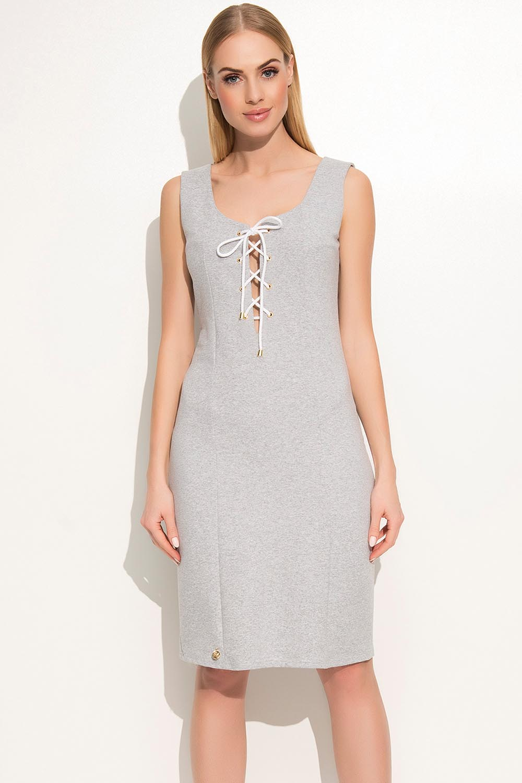 Sukienka Model M362 Grey Melange - Makadamia